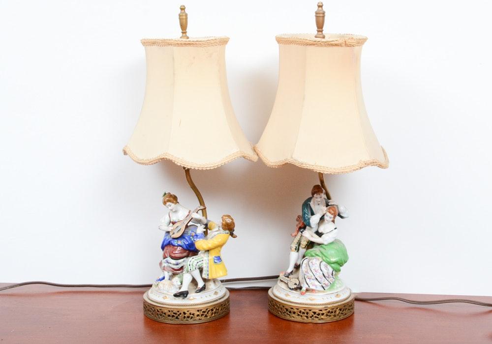 Ceramic Figural Table Lamps