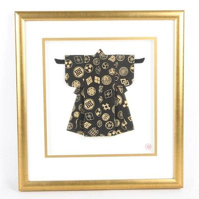 "Rosella Harrison Peck Framed Kimono Origami ""Family Crest"""