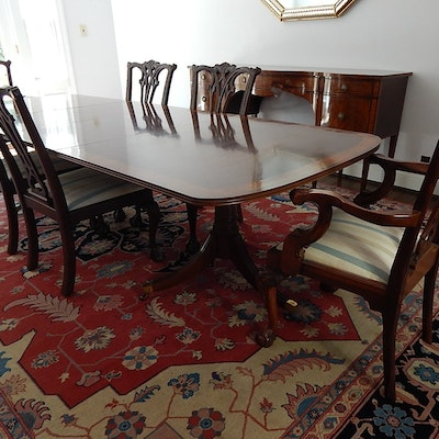 White Furniture Co Dining Table And Six Chairs