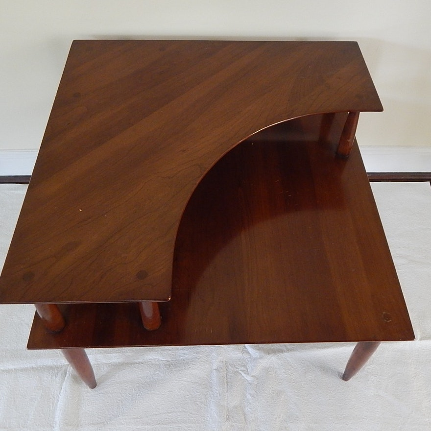 Mid century modern solid cherry corner table by willet ebth mid century modern solid cherry corner table by willet watchthetrailerfo