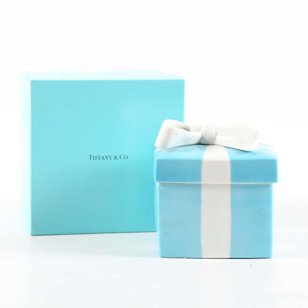 Tiffany & Co. Blue Porcelain Trinket Box