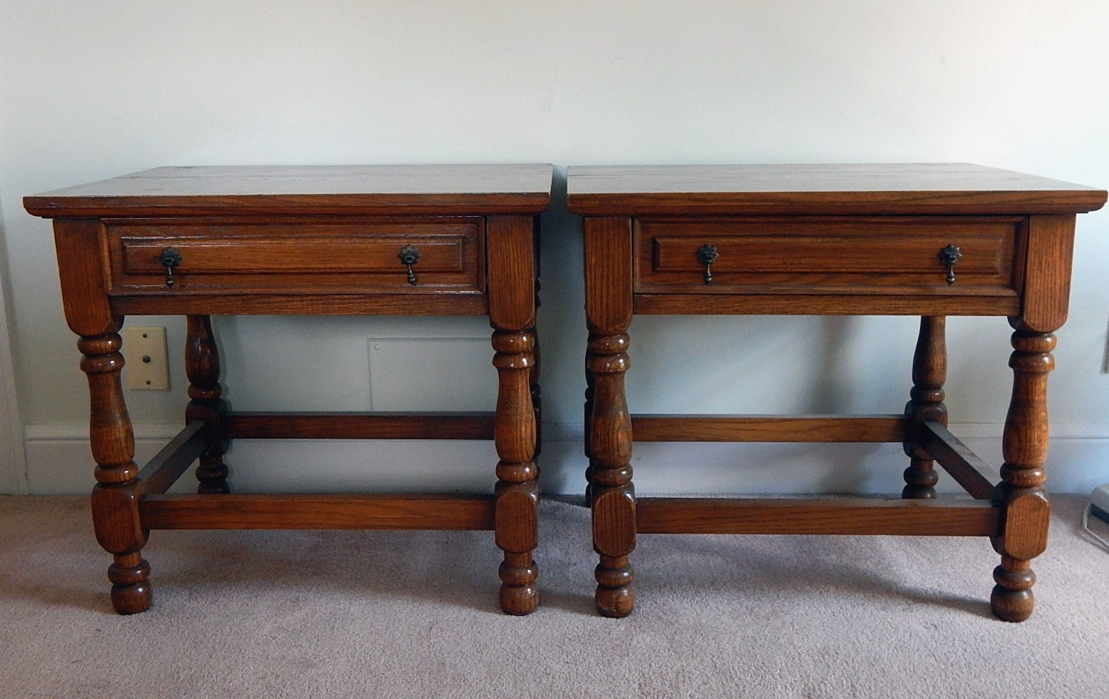 Pair of Oak Night Stands