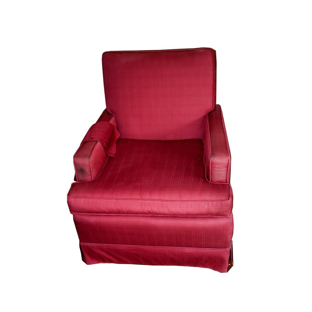 Red Hue Accent Chair with Jack Smith's Upholstery