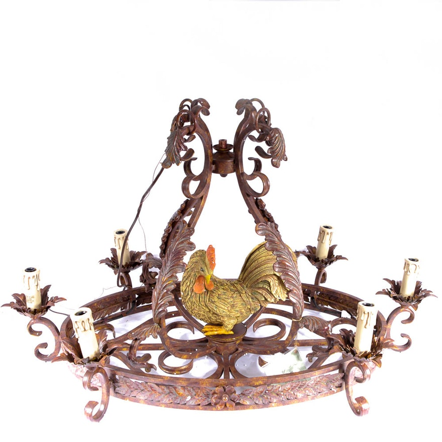 Tracy porter for savoy metal chandelier with chicken motif ebth tracy porter for savoy metal chandelier with chicken motif aloadofball Choice Image