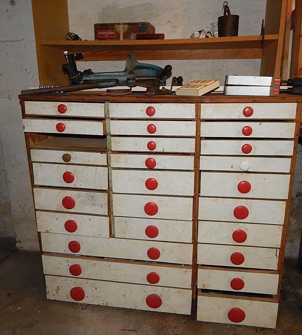 Cabinet of Small Hand Tools Cleanout