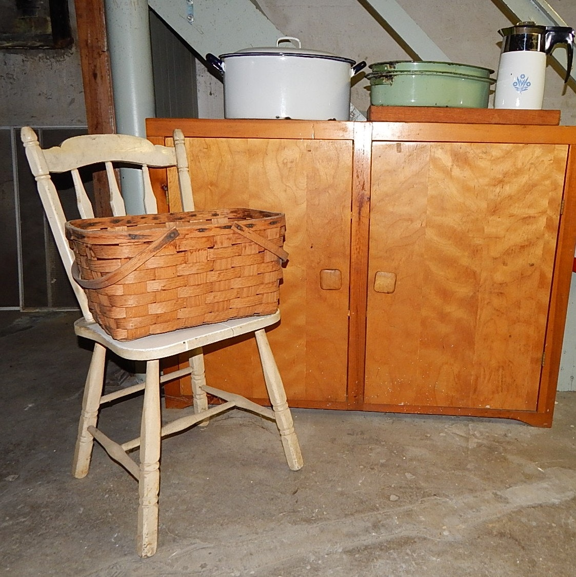 Cabinet, Chair, Porcelain Roasters