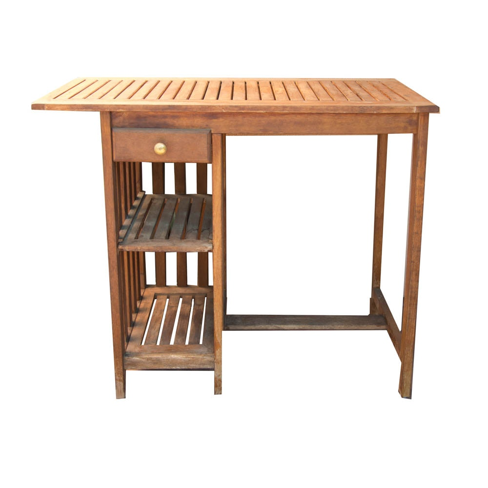 Teak Patio Bar Table