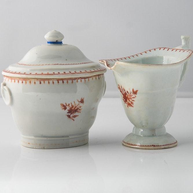18th Century Chinese Export Cream & Sugar