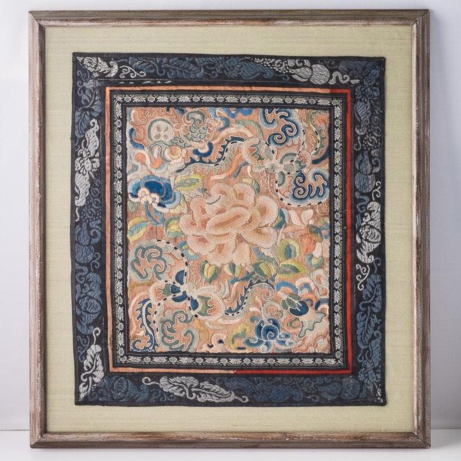 Chinese Forbidden Stitch Textile