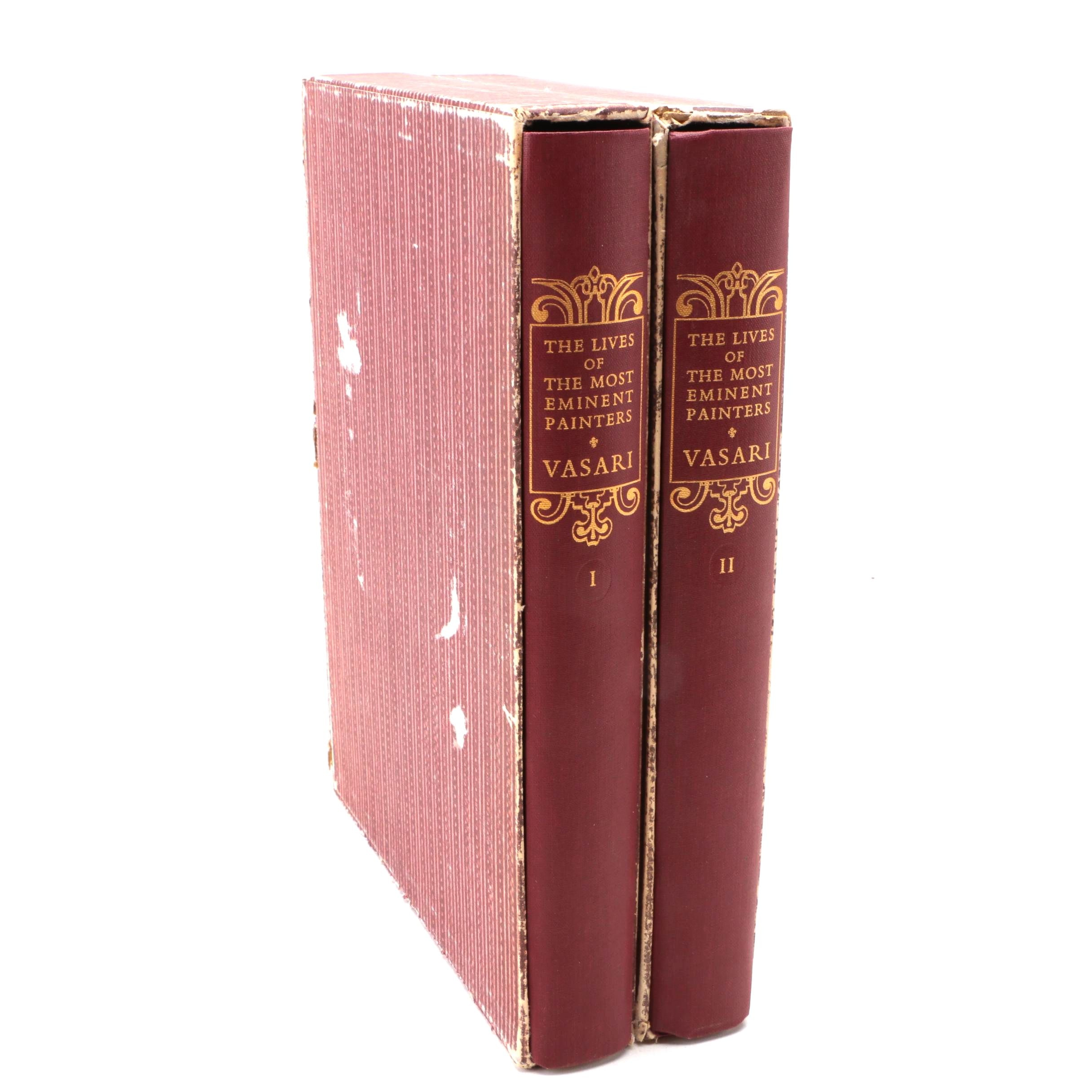 """Two-Volume Set of """"Lives of the Most Eminent Painters"""" by Giorgio Vasari"""