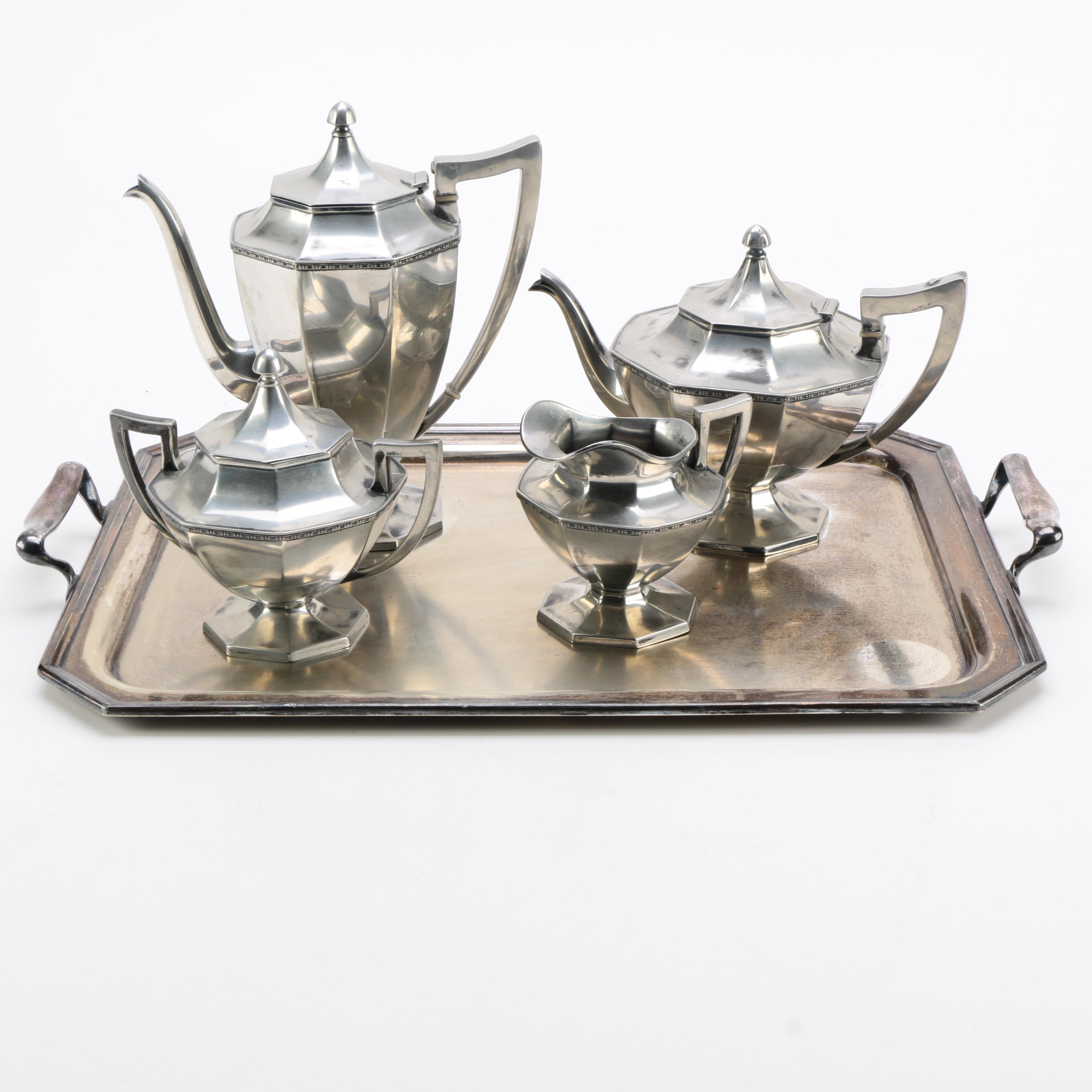 Wilcox Silver Plate Co. Silver Plate Tea and Coffee Service