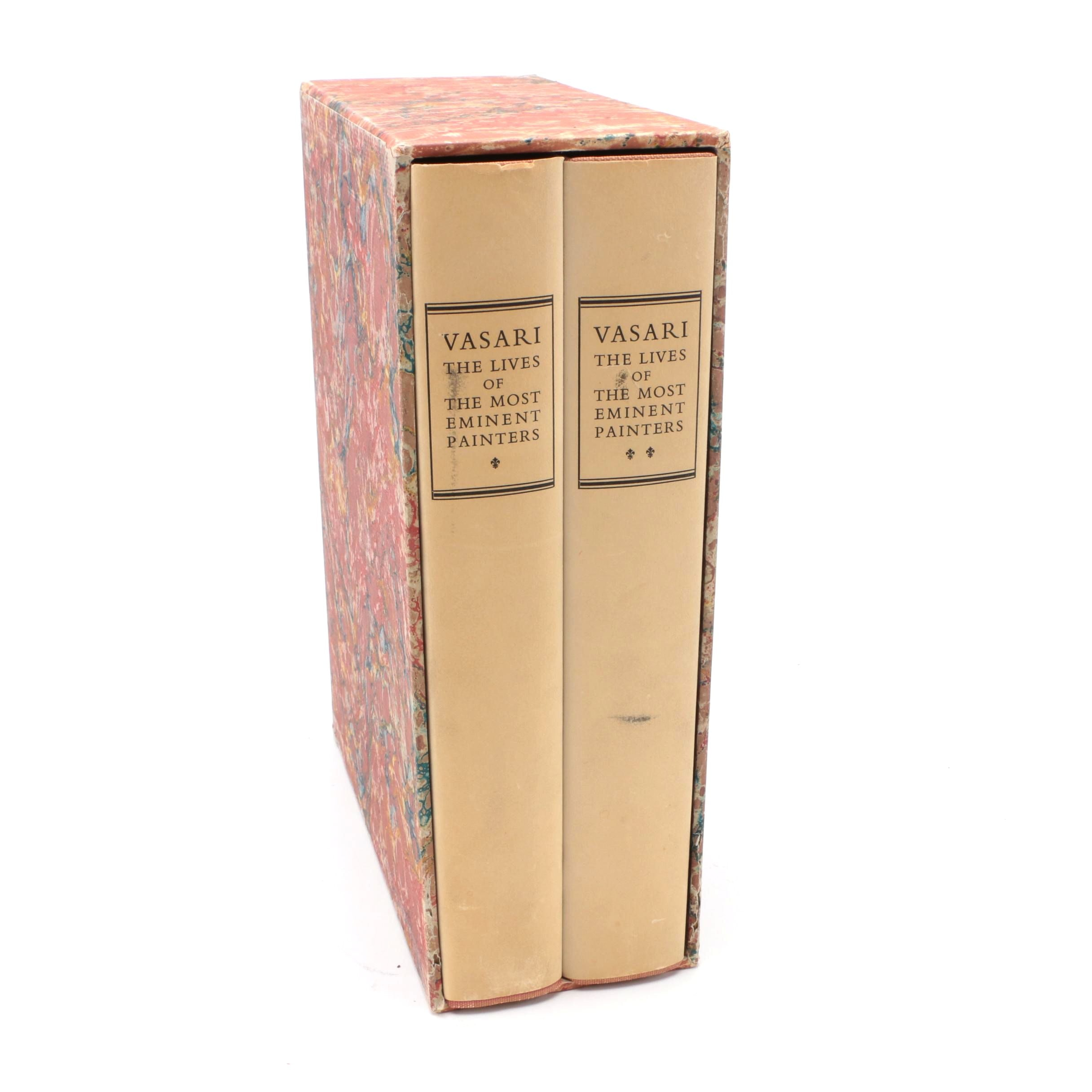"""""""Lives of the Most Eminent Painters"""" Two Volume Set by Giorgio Vasari"""