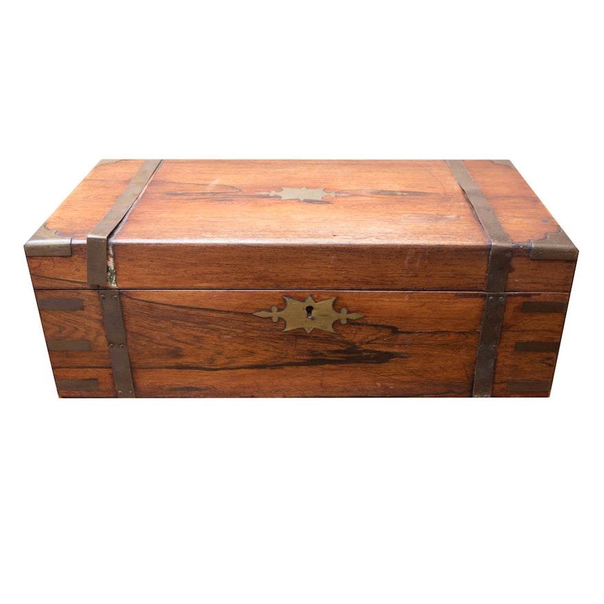 Antique Folding Travel Desk ... - Antique Folding Travel Desk : EBTH