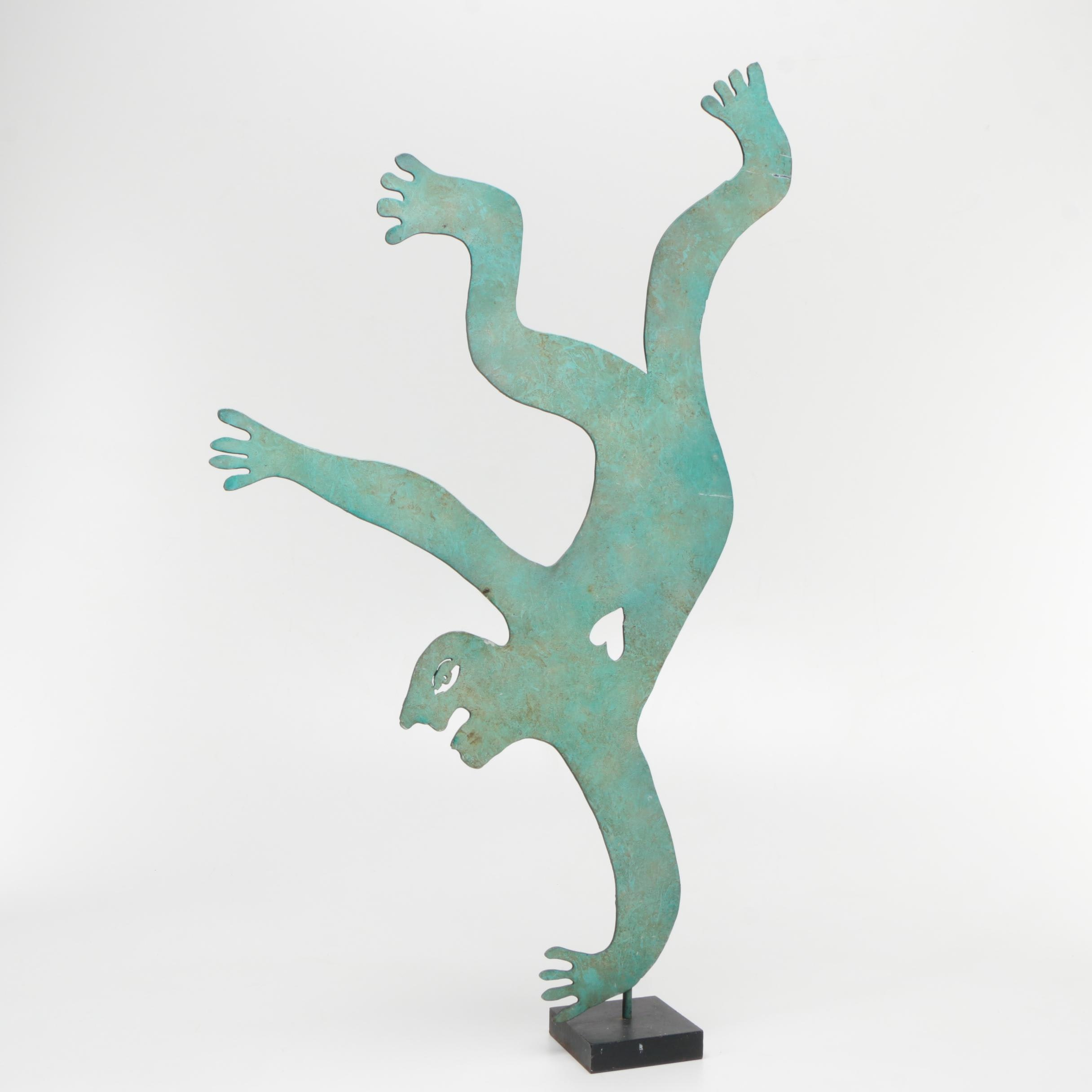 "Judie Bomberger Metal Sculpture ""Head over Heels"""