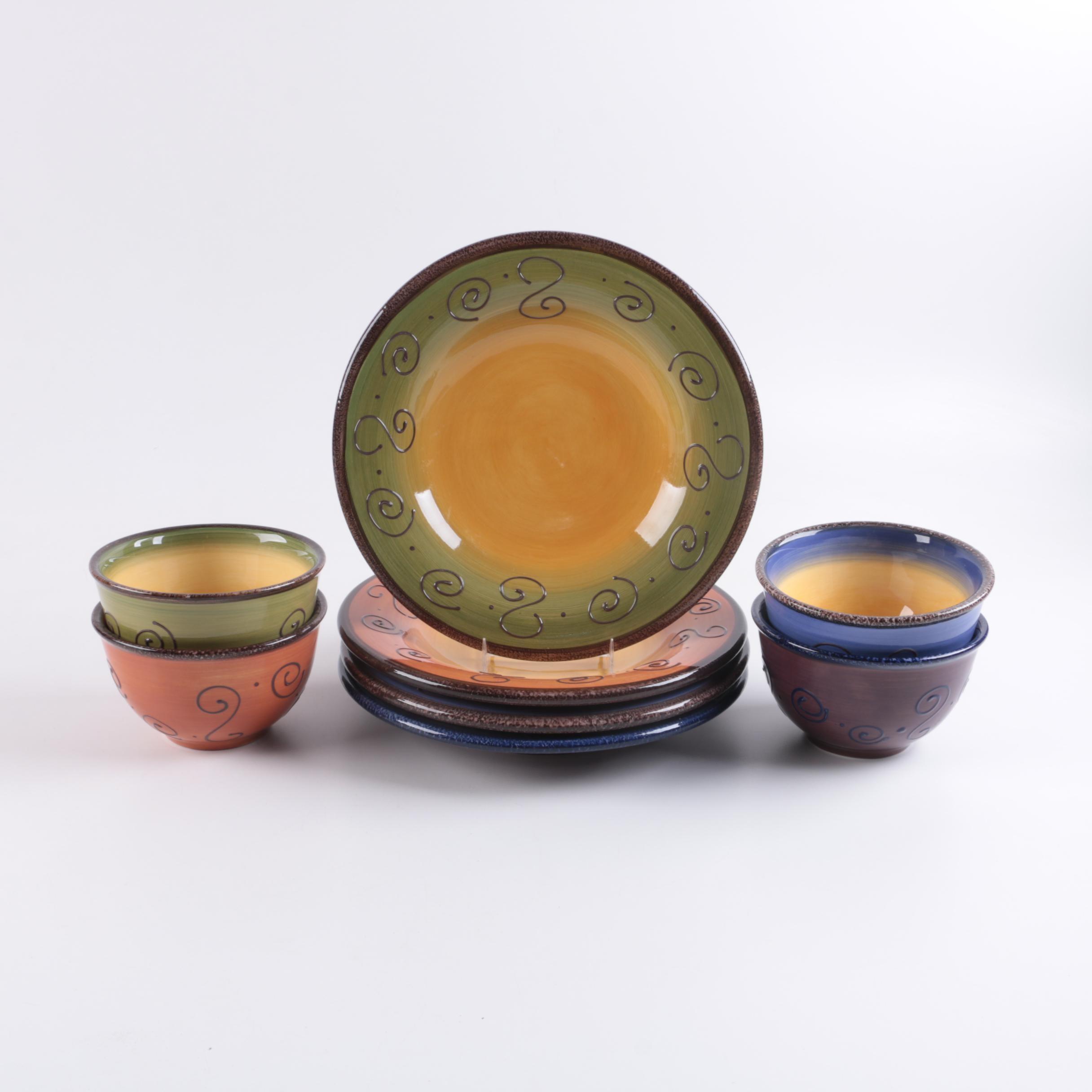 Ambrosia Hand Painted Ceramic Dinnerware