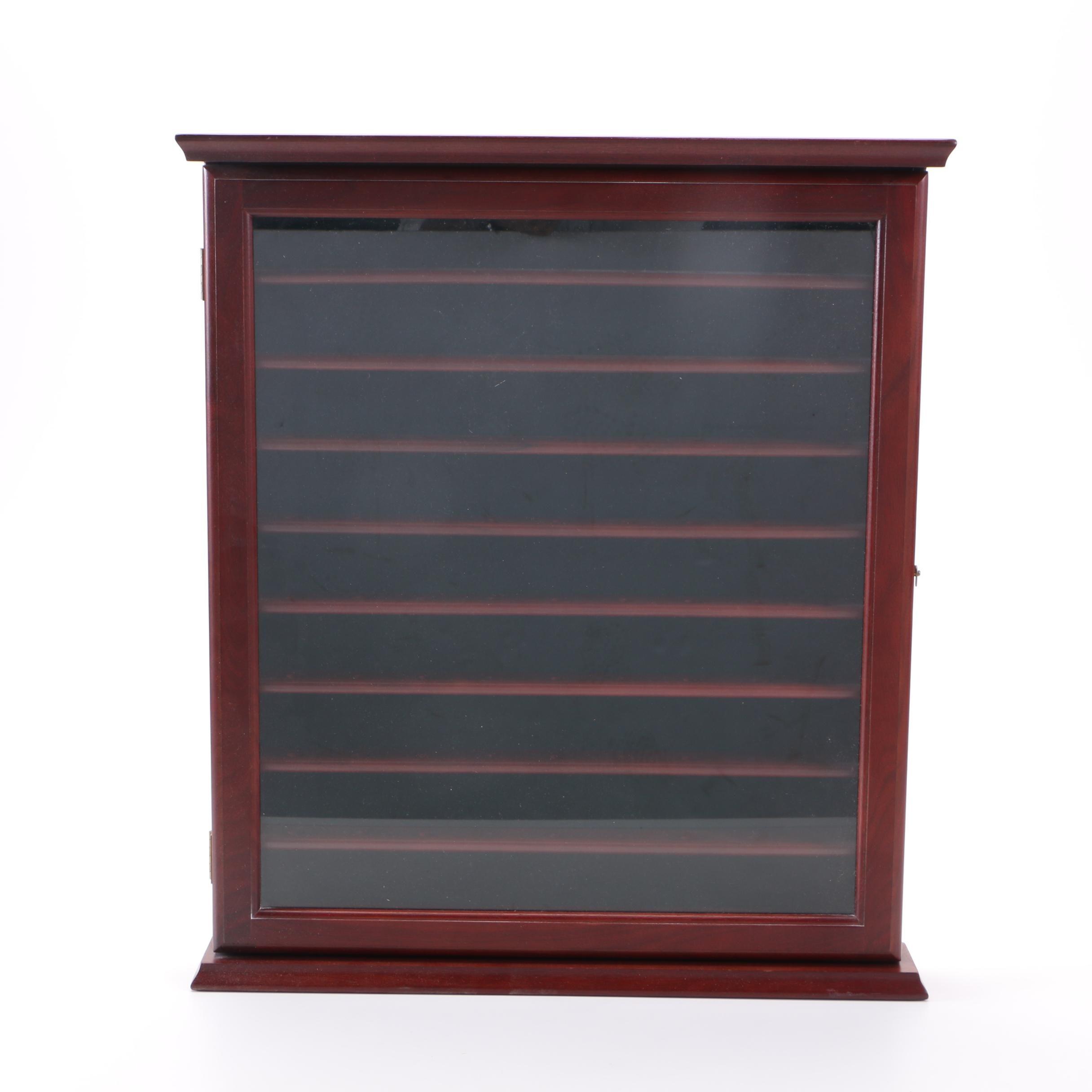 Glazed-Door Golf Ball Display Cabinet by Pro Golf