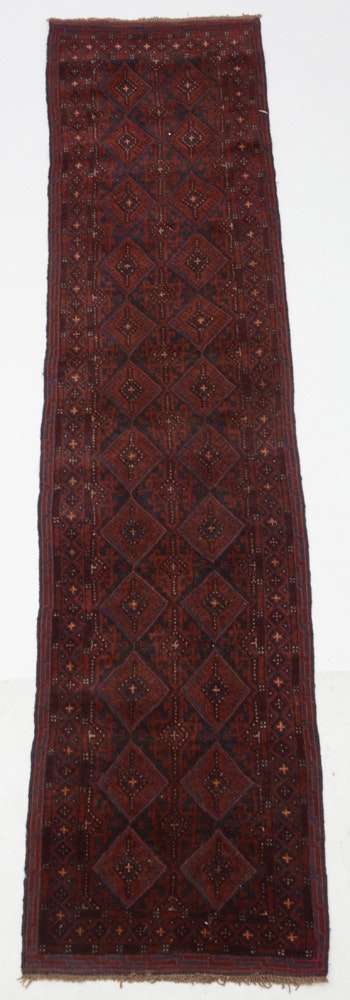 Persian Hand-Knotted Baluch Wool Runner Rug