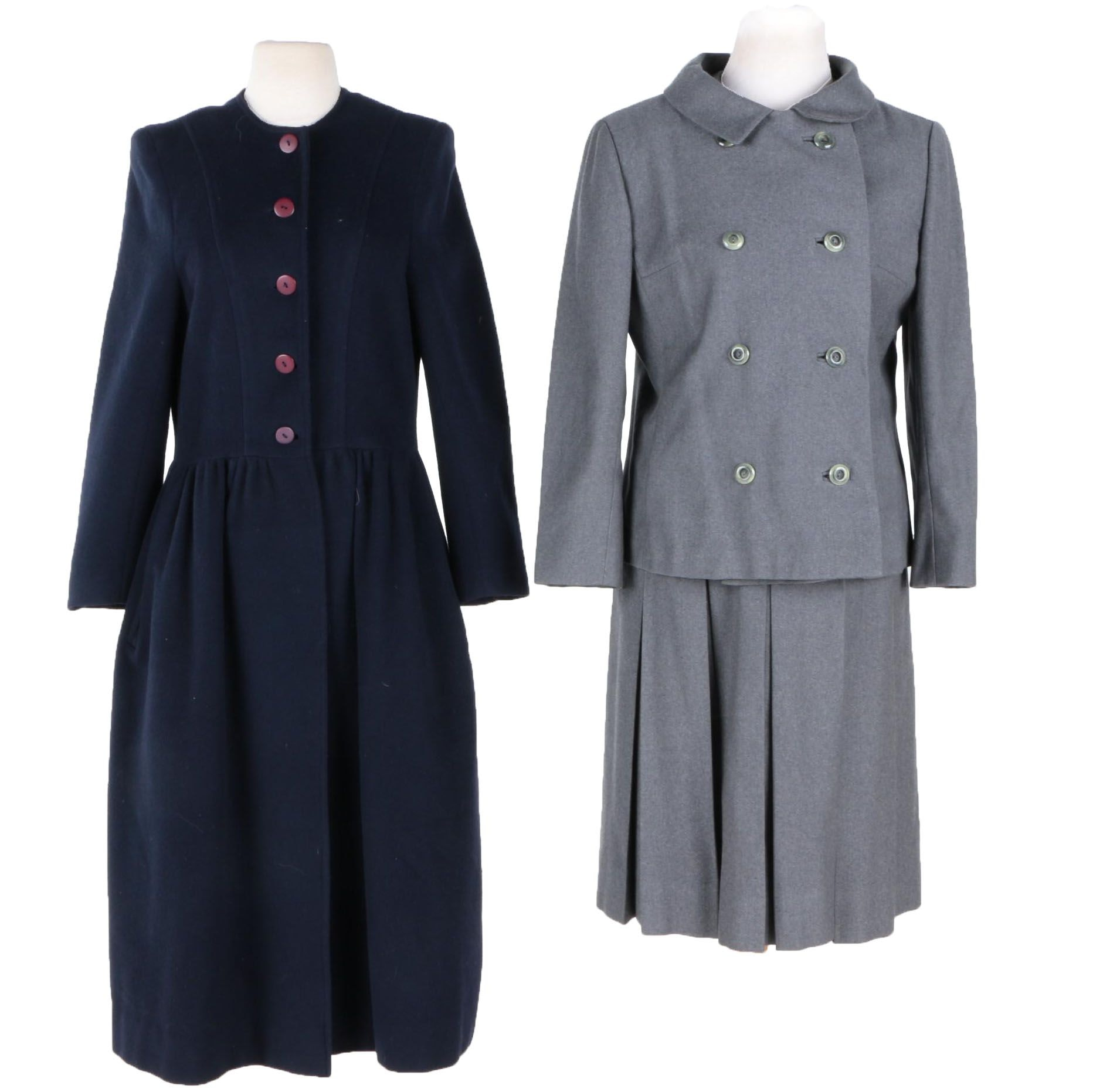 Vintage Overcoat and Dress Suit With Jacket