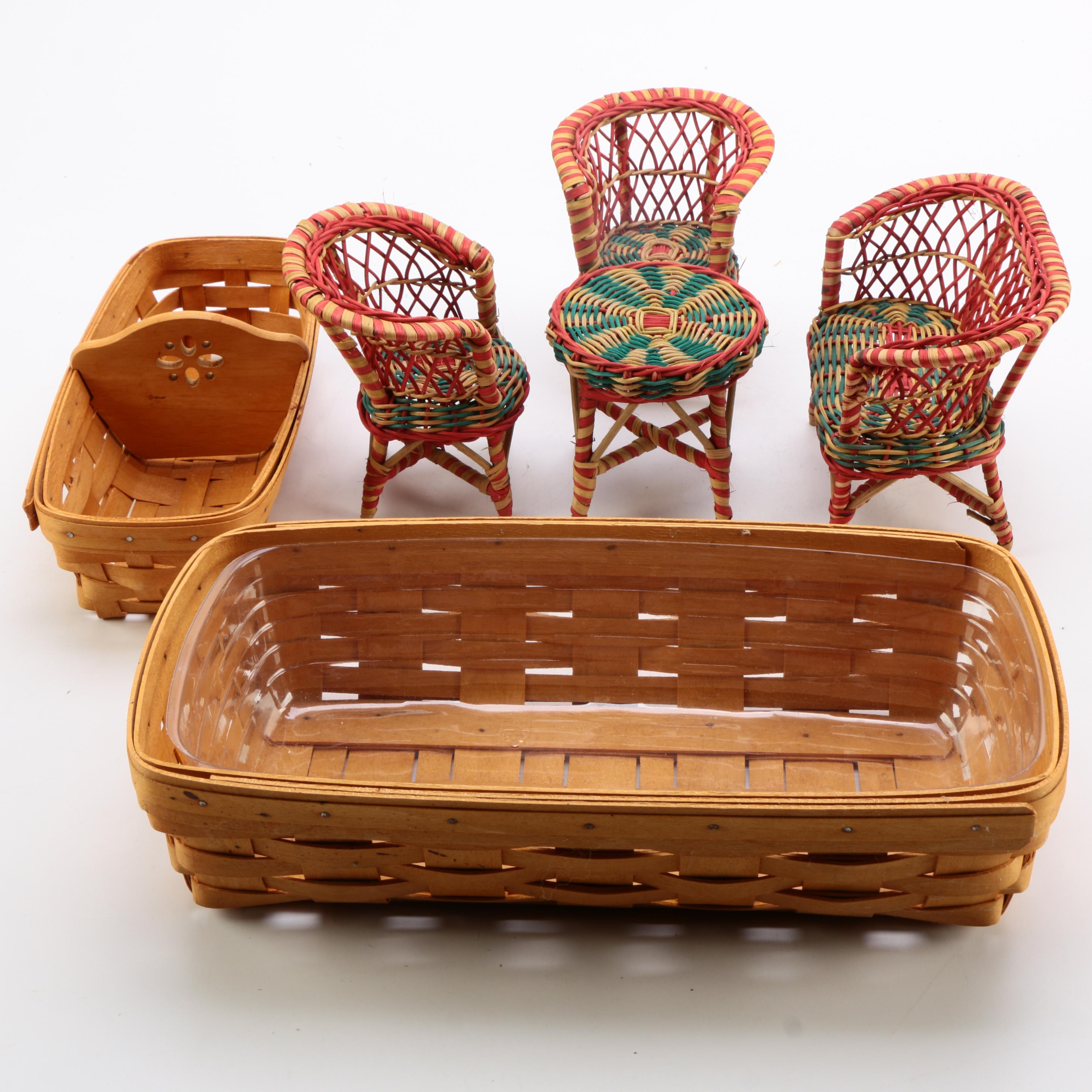 Wicker Items Featuring Longaberger