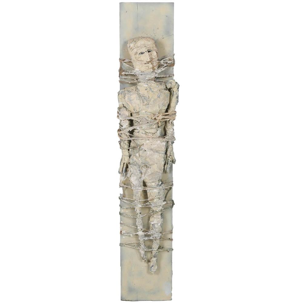 Ronald Ahlström Mixed Media Sculpture of a Figure