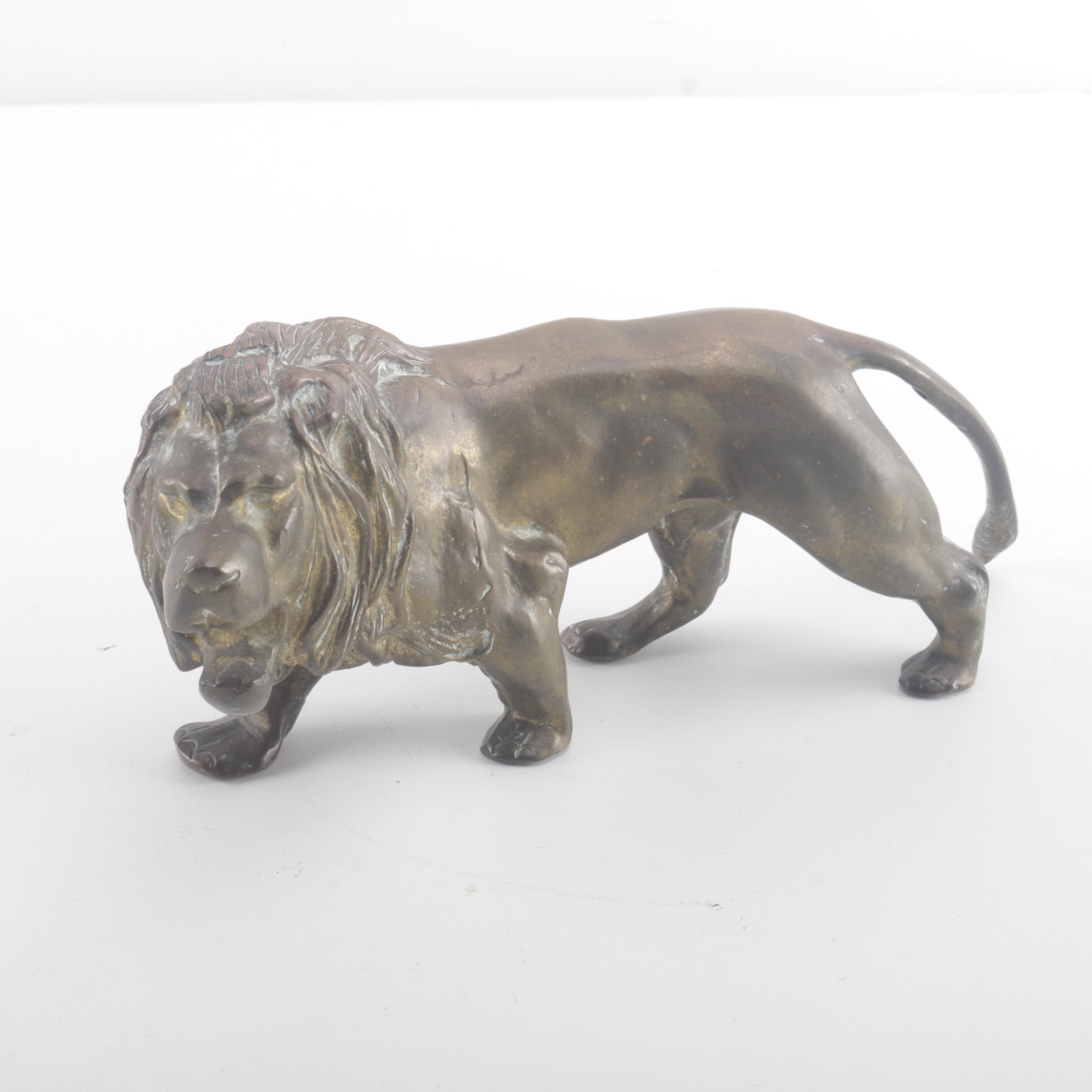 Copper Lion Figurine