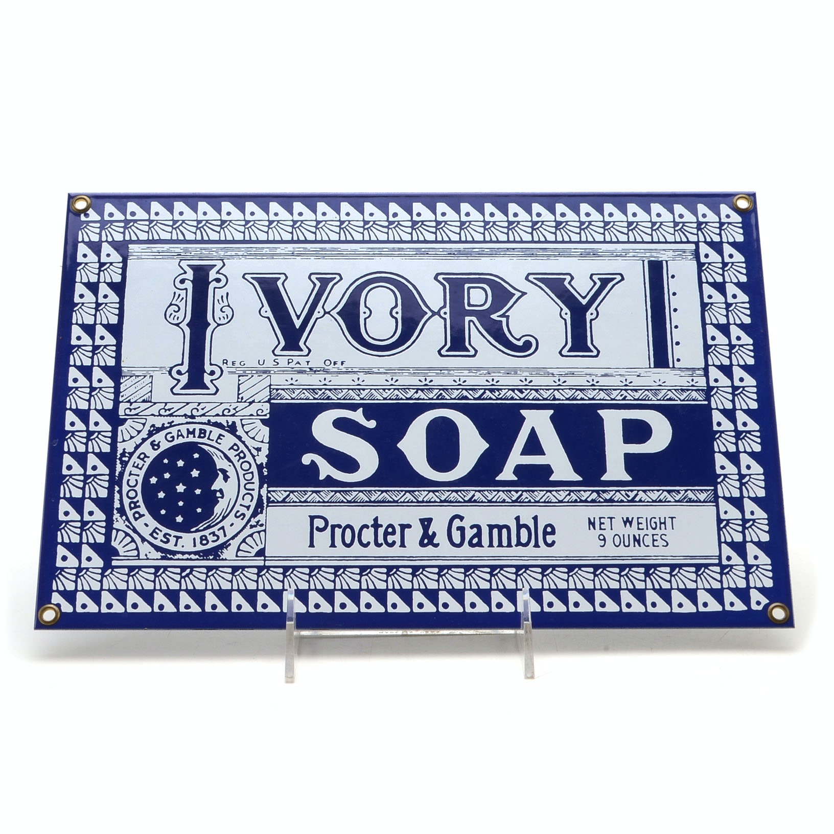 Procter & Gamble Ivory Soap Enameled Metal Sign