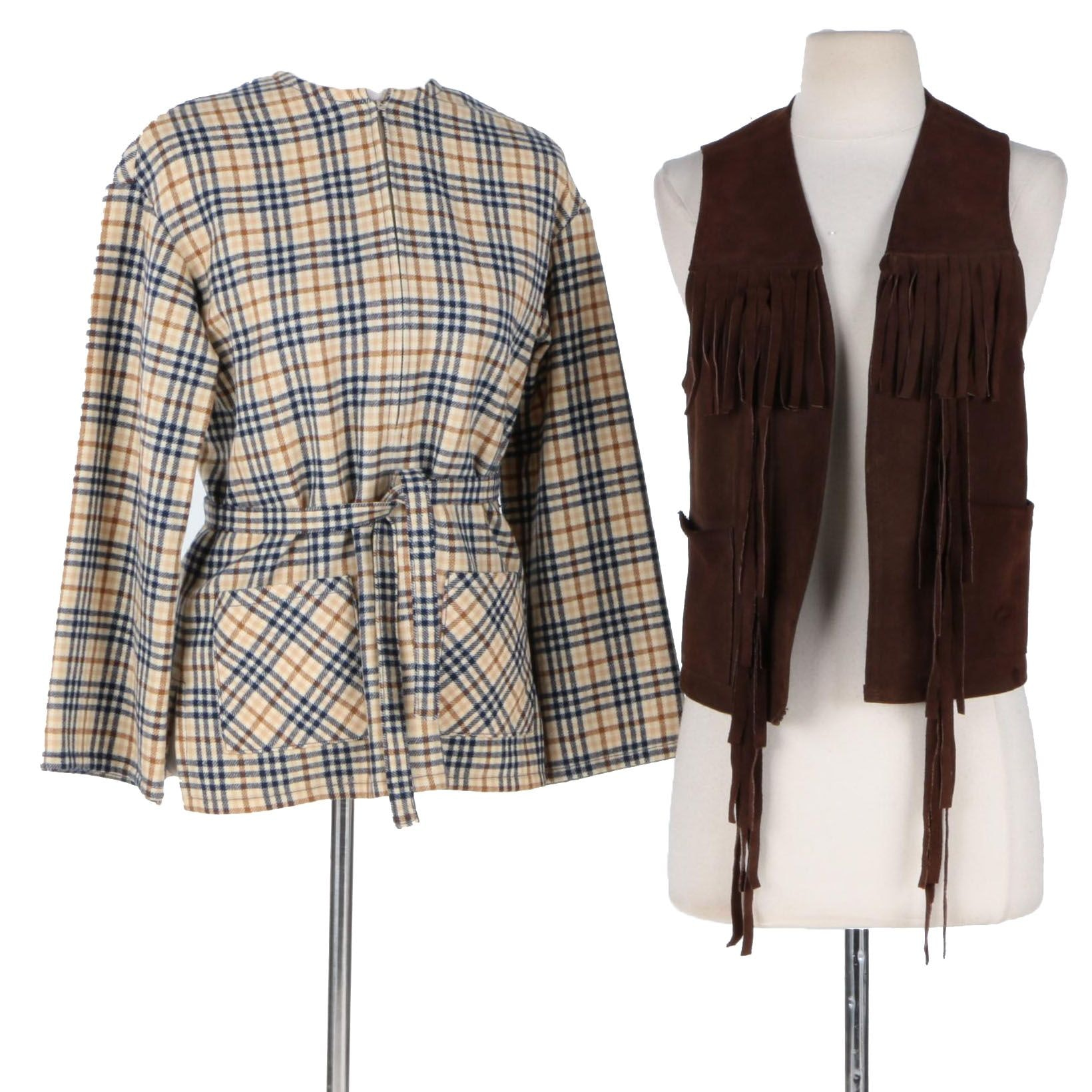 Circa 1970's Women's Young Pendleton Jacket and Suede Vest