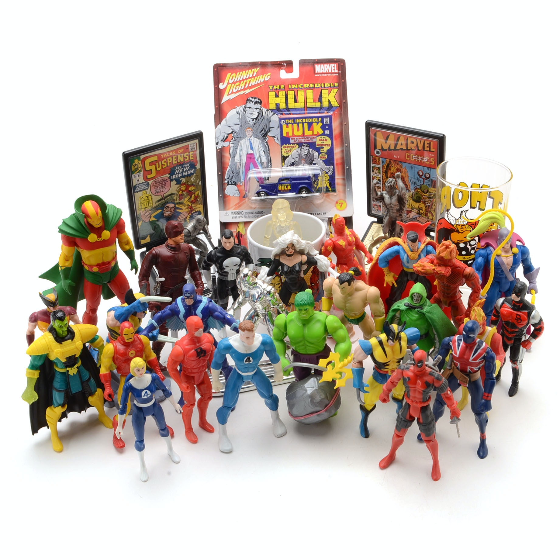 Collection of Marvel Comics Collectibles