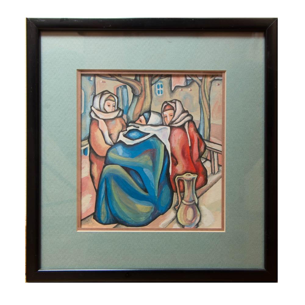Framed Painting of Women
