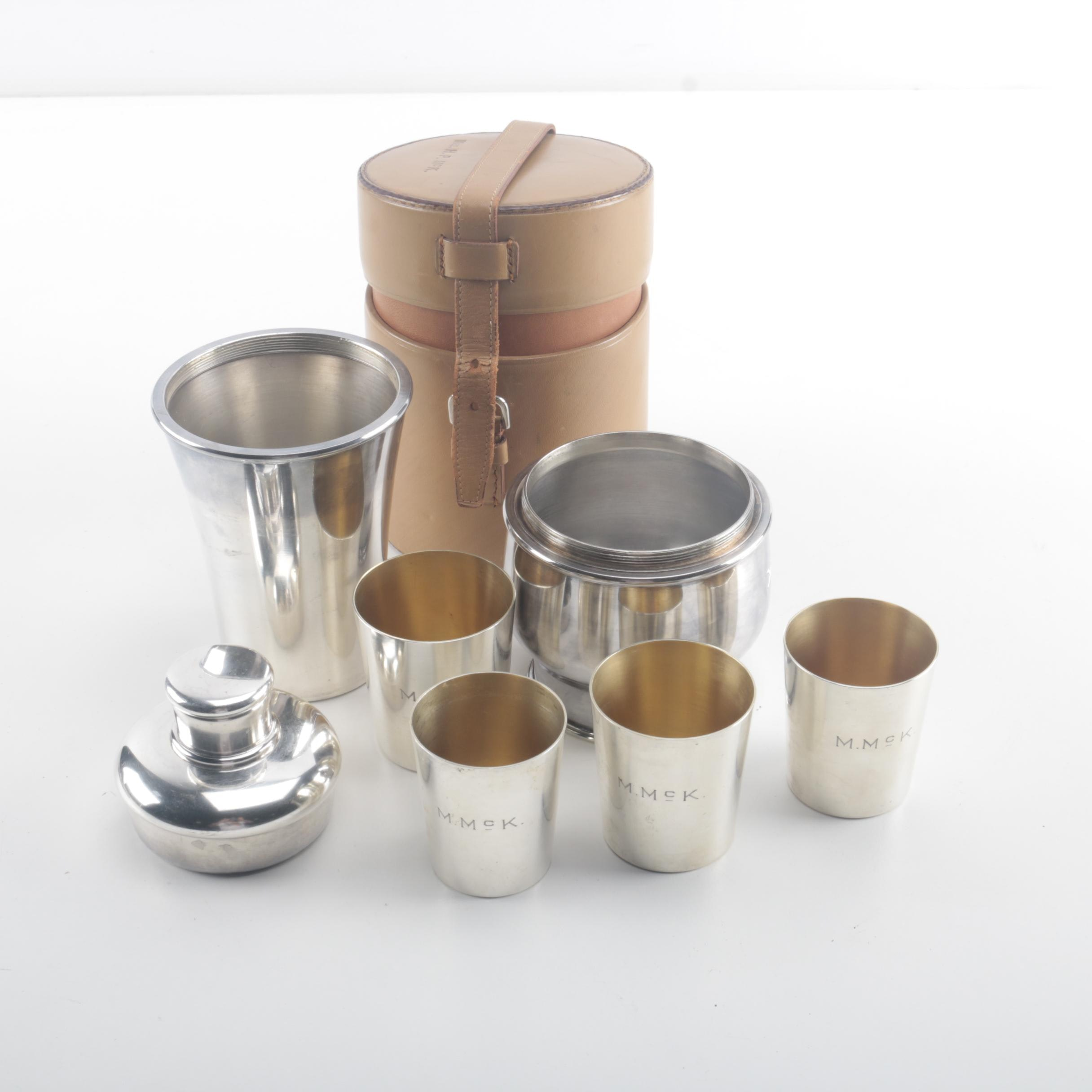 Meriden Silver Plate Co. Traveling Cocktail Kit
