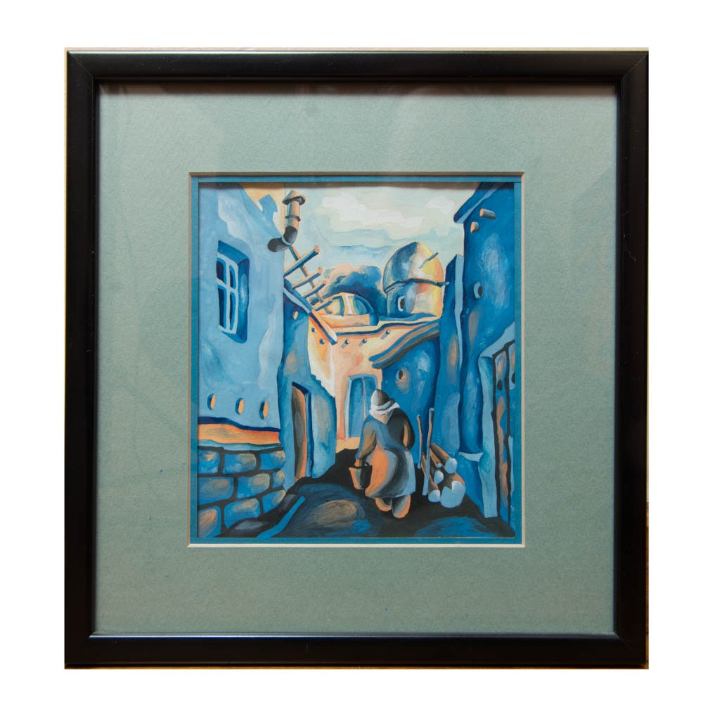 Painting of Figure in Alley