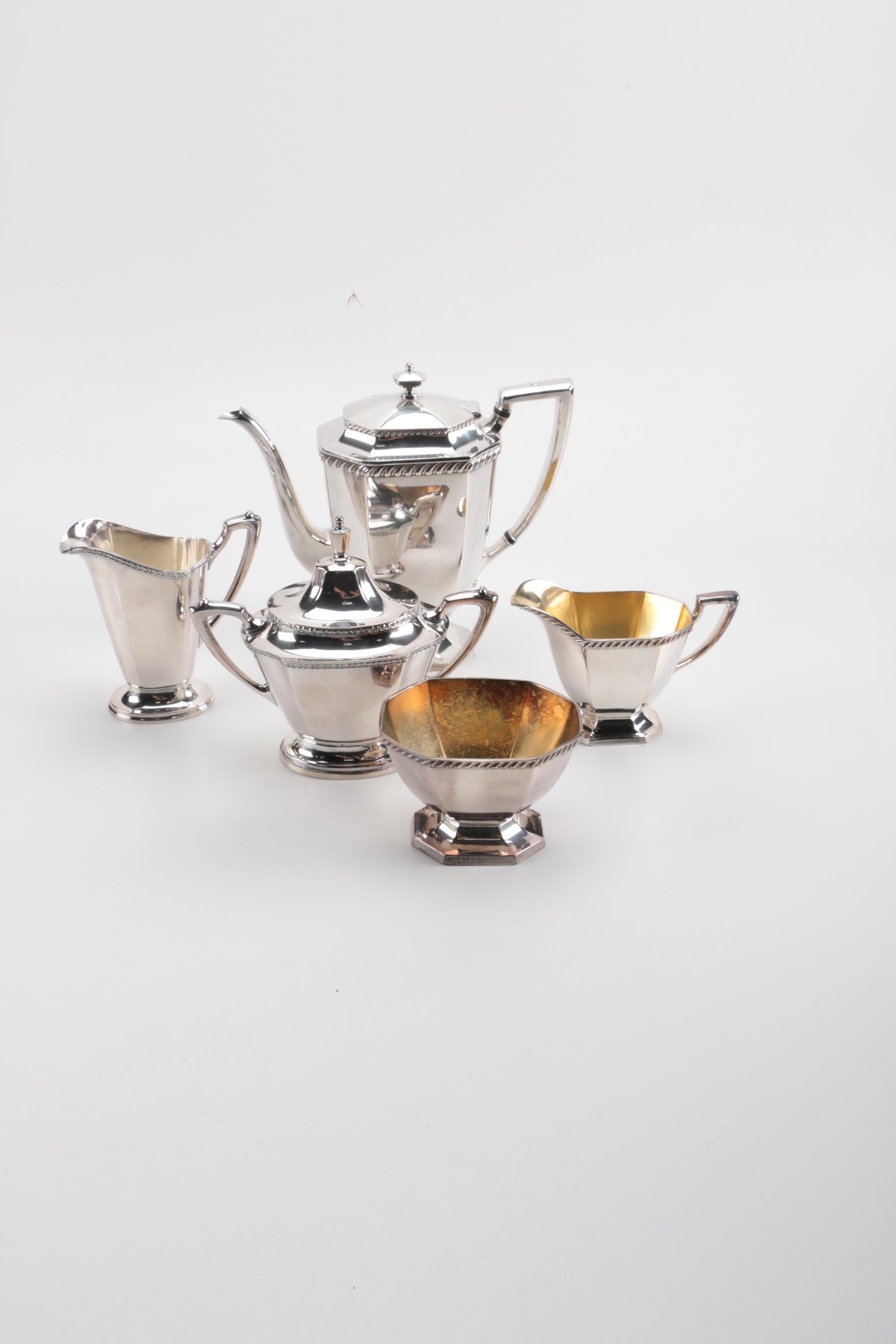 Homan and Wallace Silver Plate Coffee Service