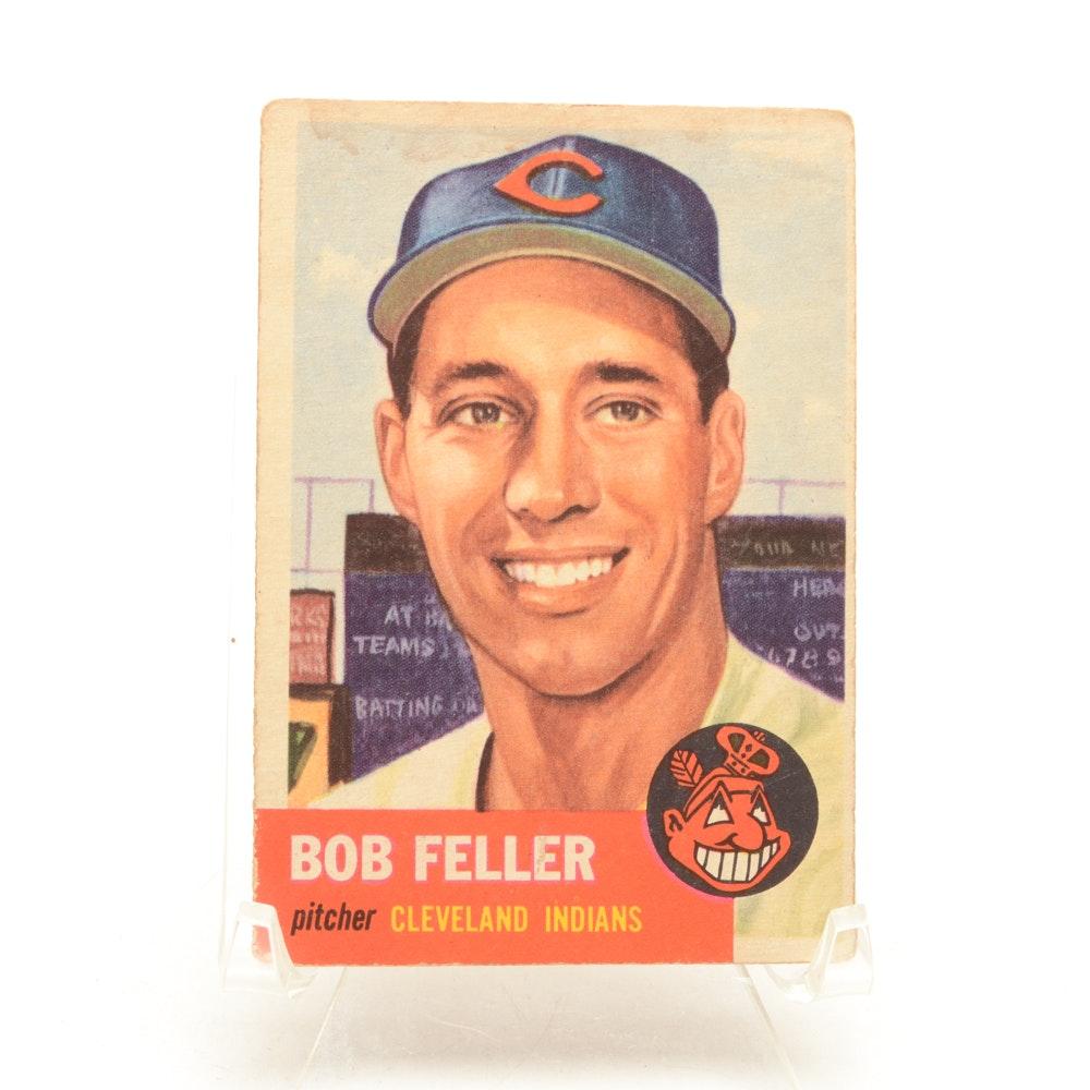 1953 Bob Feller Topps Baseball Card