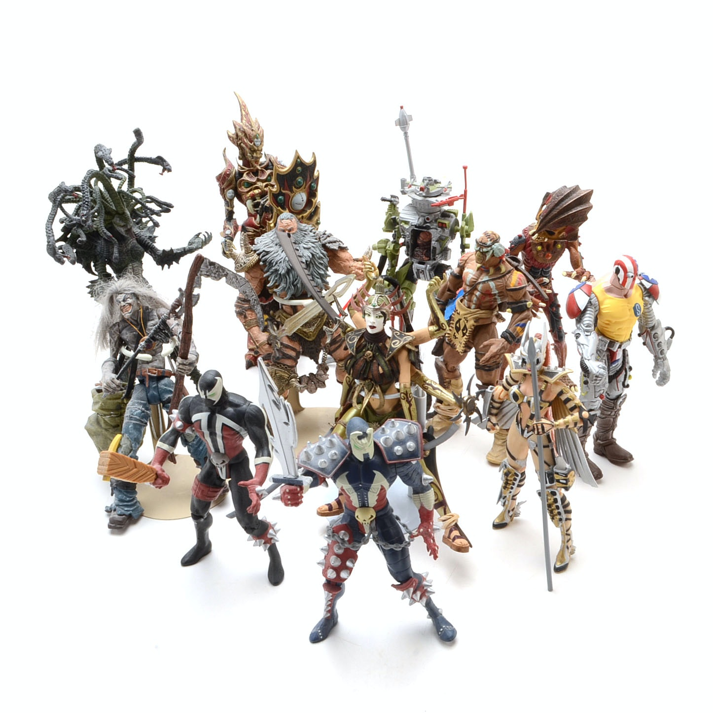 Collection of Spawn and Todd McFarlane Action Figures