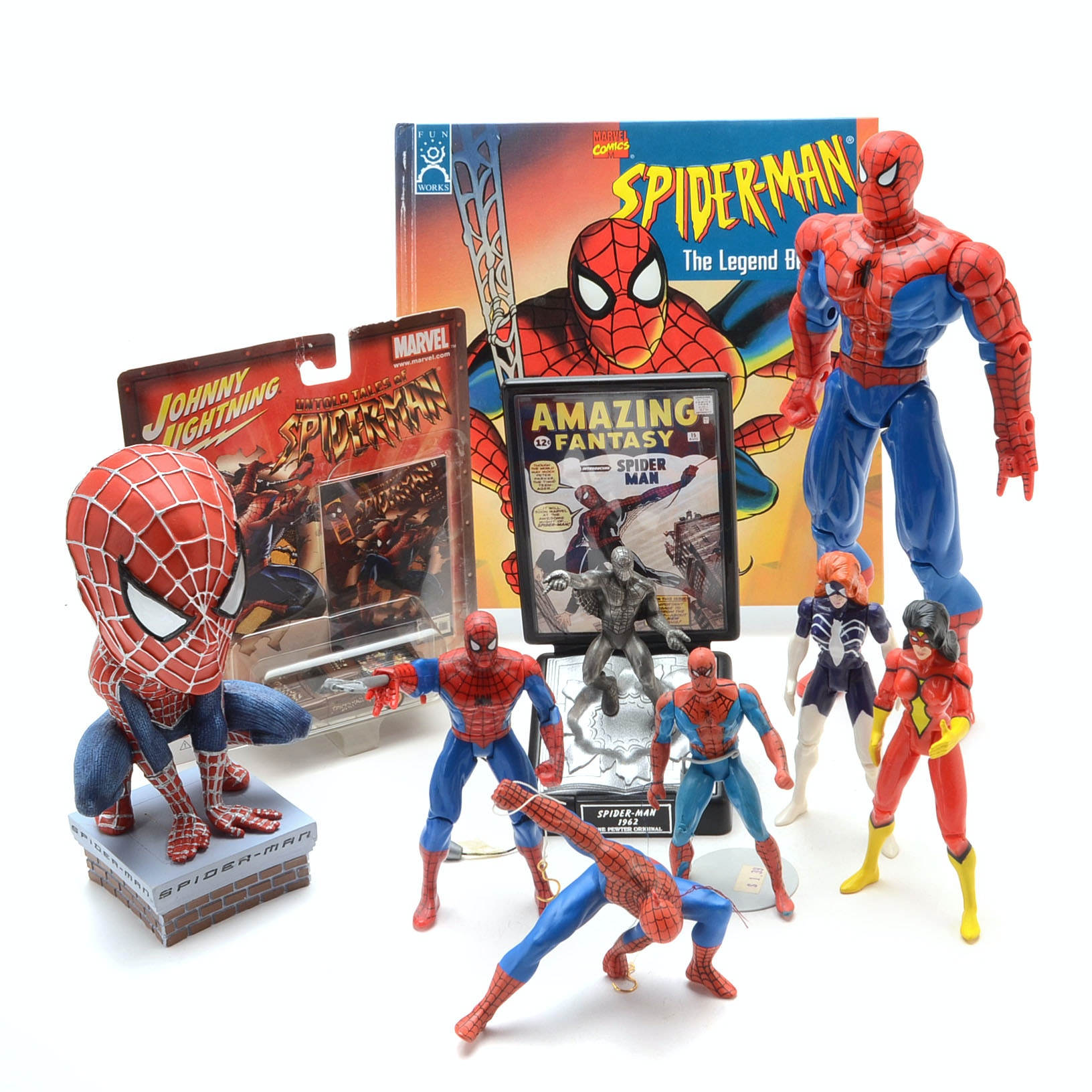 Collection of Marvel Comics Spiderman Collectibles