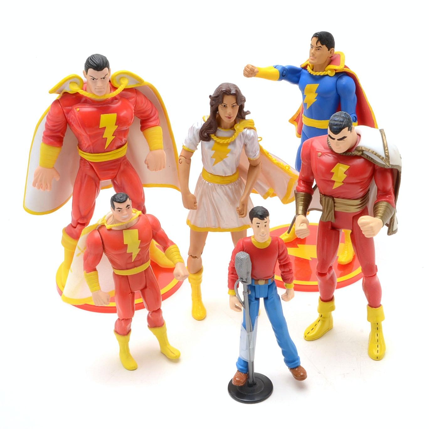 Collection of DC Comics Shazam! action Figures