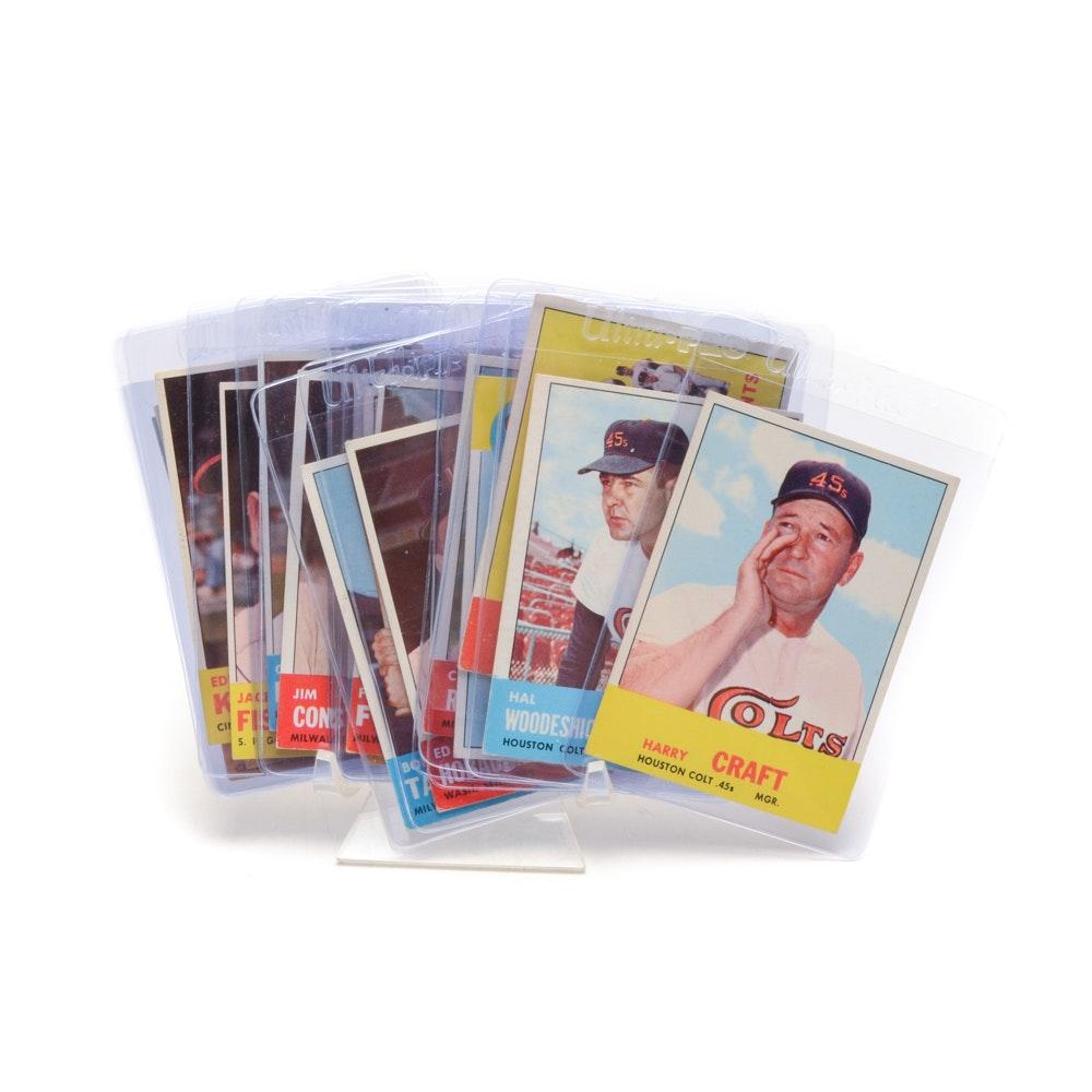 "Seventeen 1963 ""Semi-High Number"" Topps Baseball Cards"