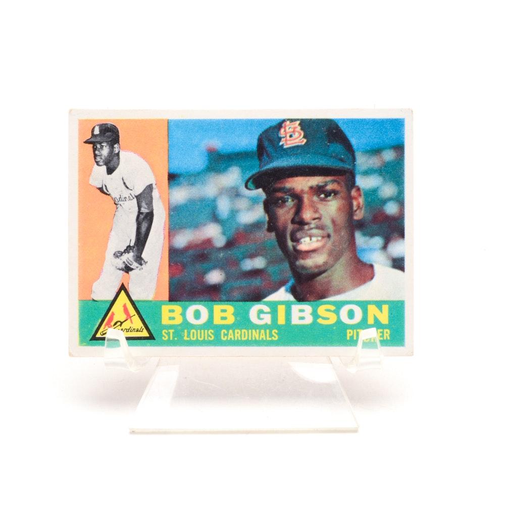 1960 Bob Gibson Topps Baseball Card