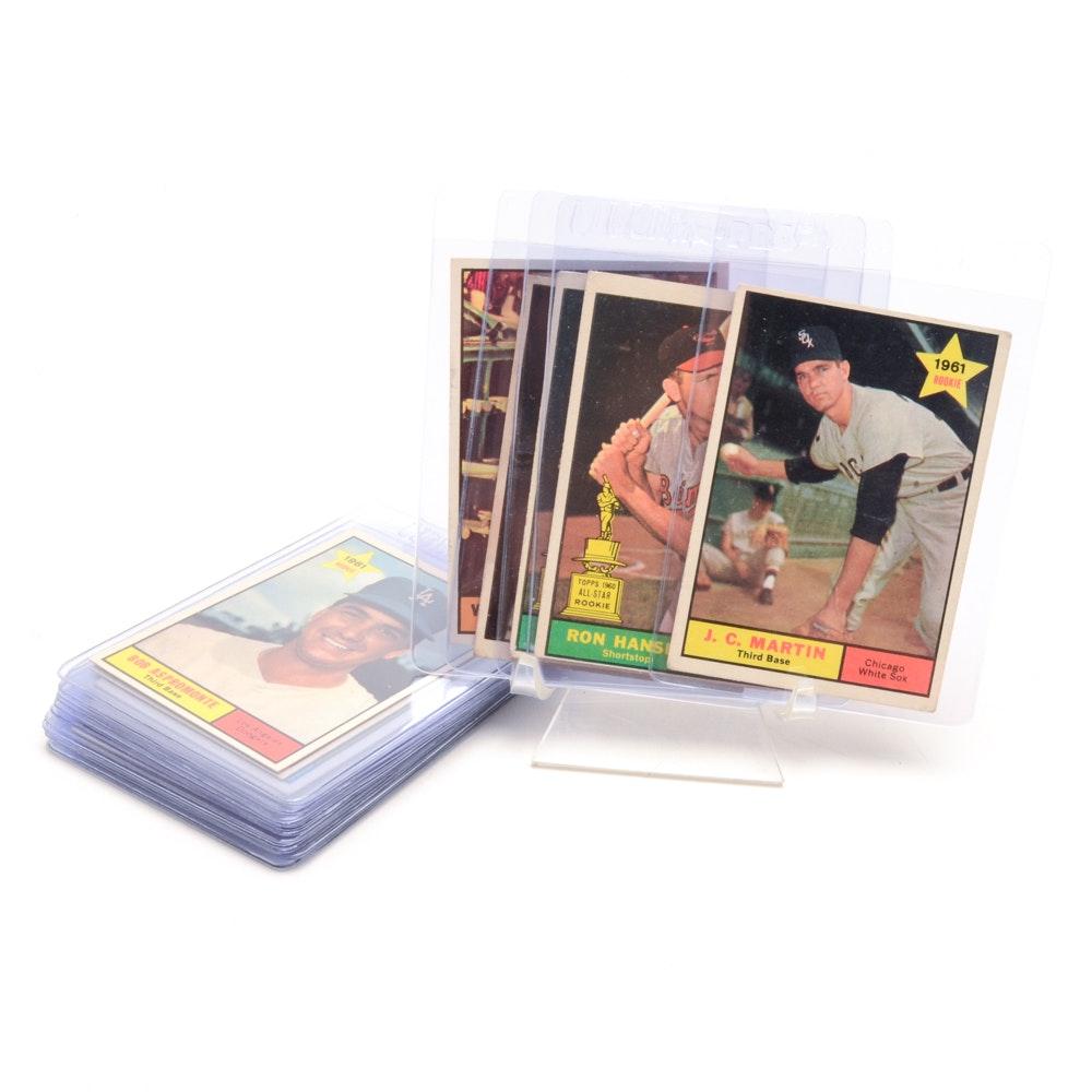 Twenty 1961 Topps Baseball Cards