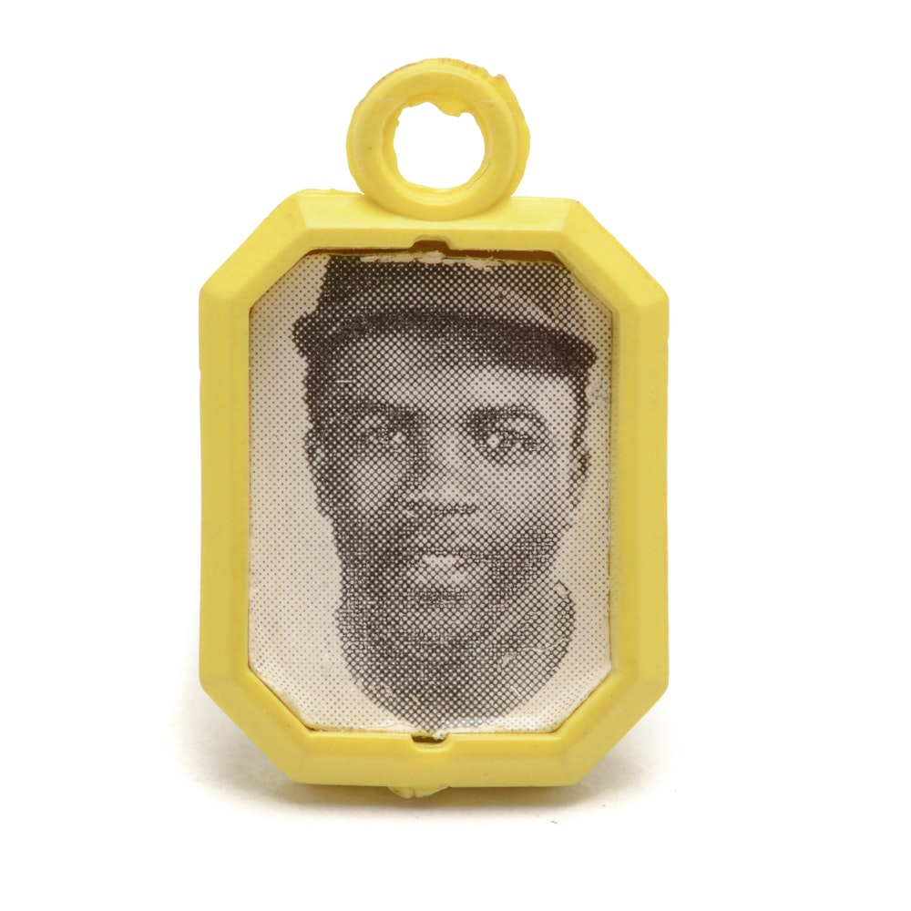 1950s Jackie Robinson Bubble Gum Photo Charm