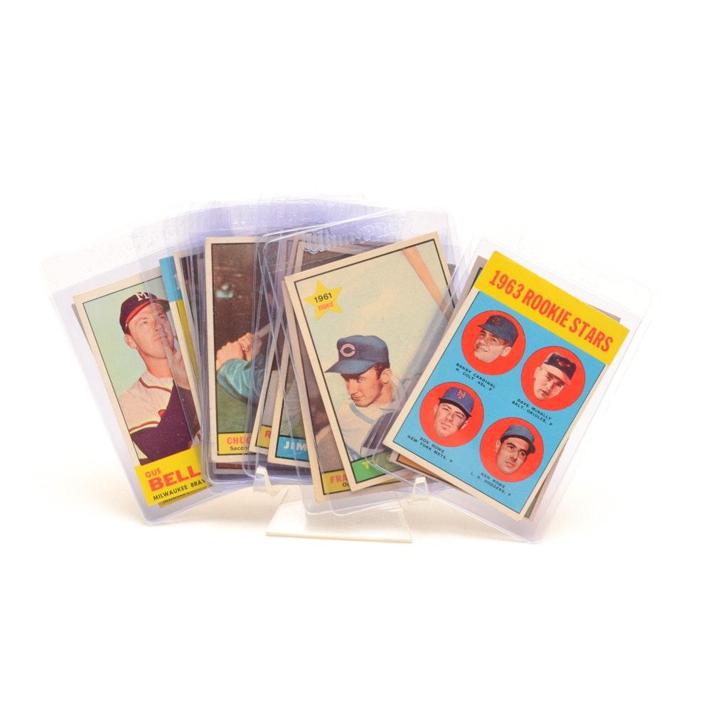 Eighteen 1961 and 1963 Topps Baseball Cards