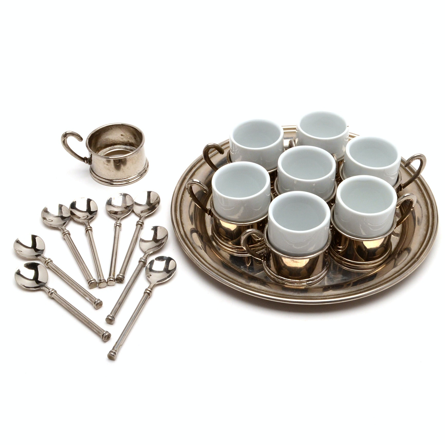 Silver Plated Demitasse Service
