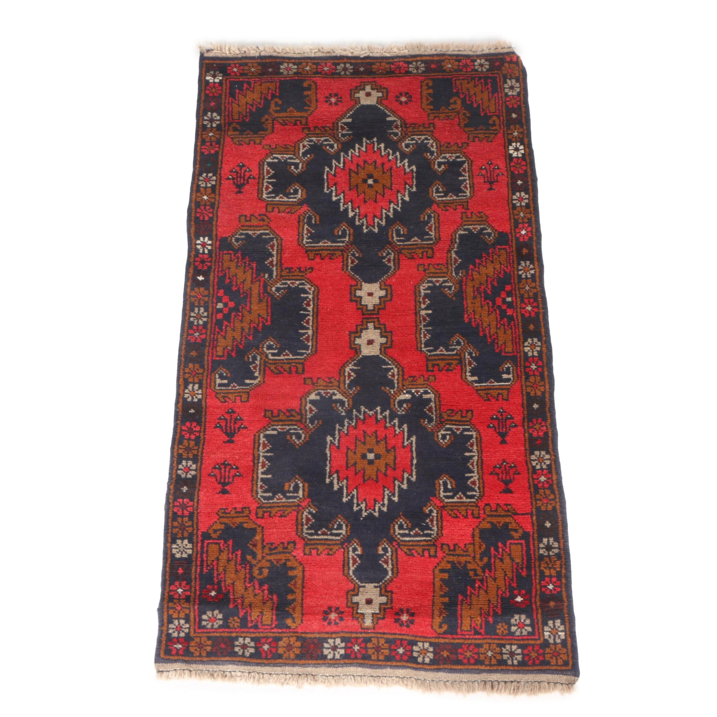 Hand-Knotted Central Anatolian Area Rug