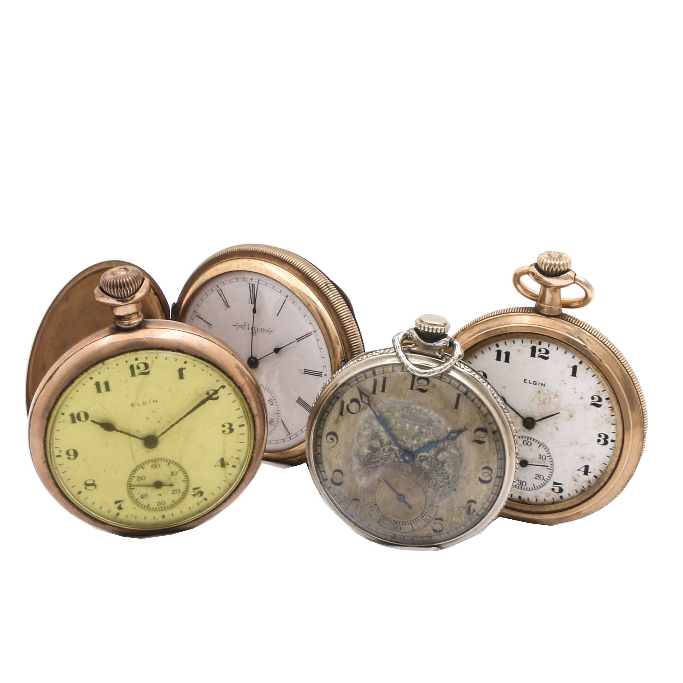 Four Early 20th Century Pocket Watches by Elgin