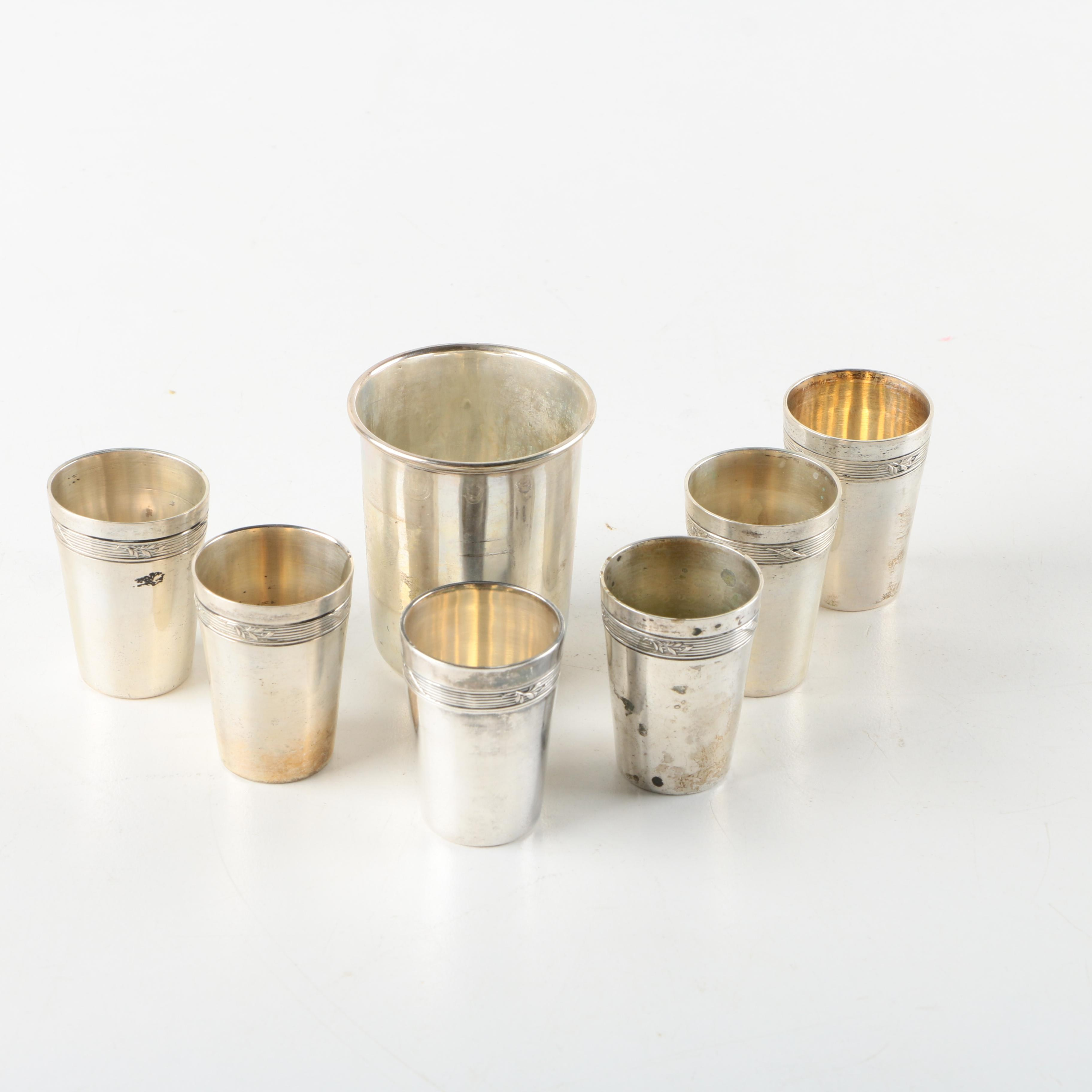 Wilhelm Binder and Other 800 Silver Cups