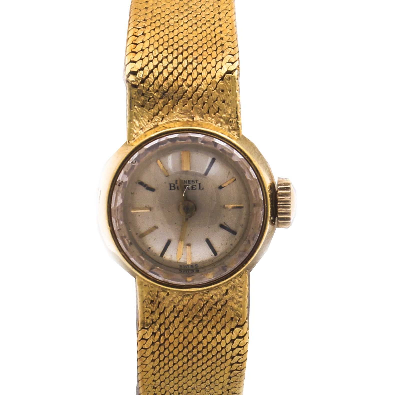 Ernest Borel 18K Yellow Gold Dress Wristwatch