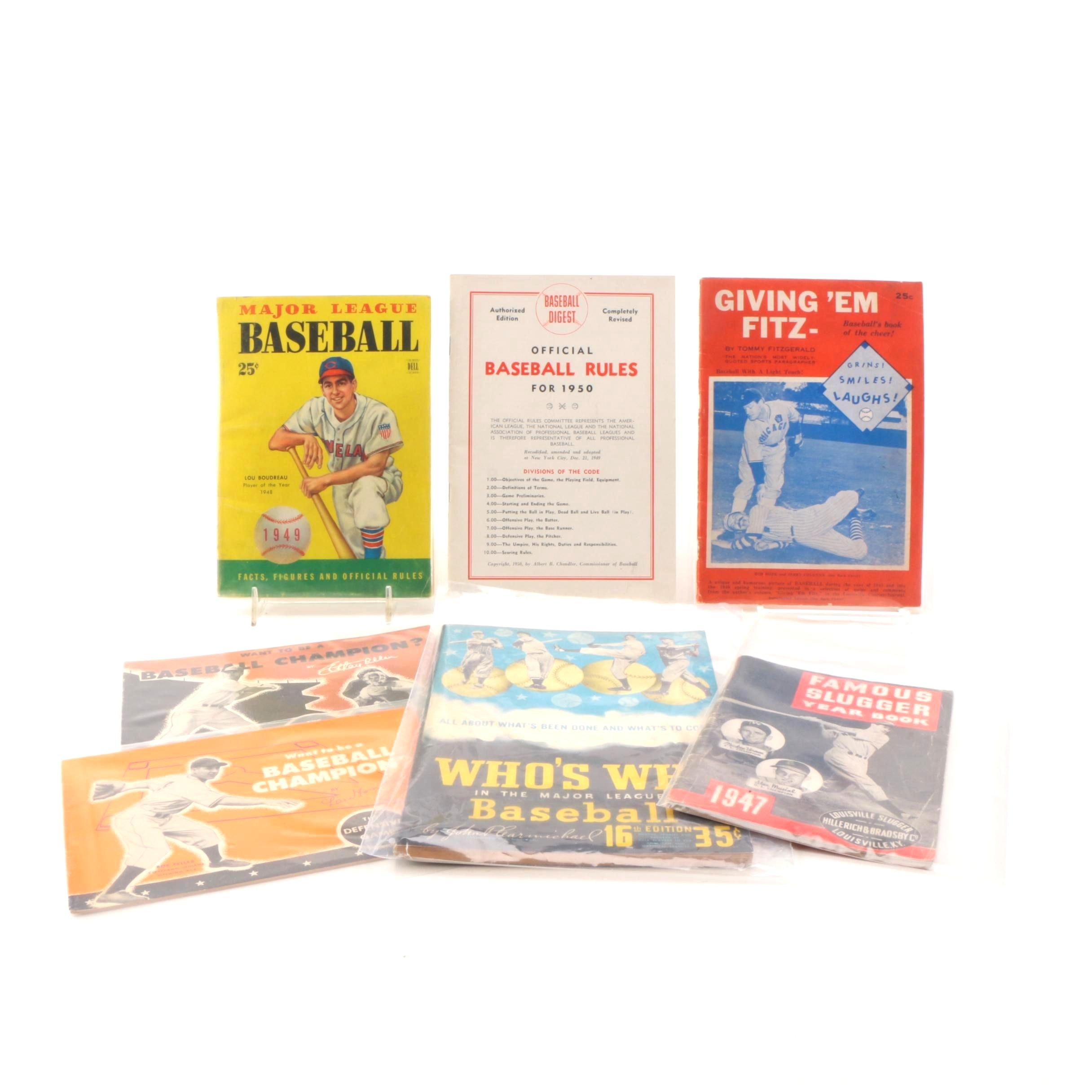 Vintage Baseball Magazines of  1940s and 1950s