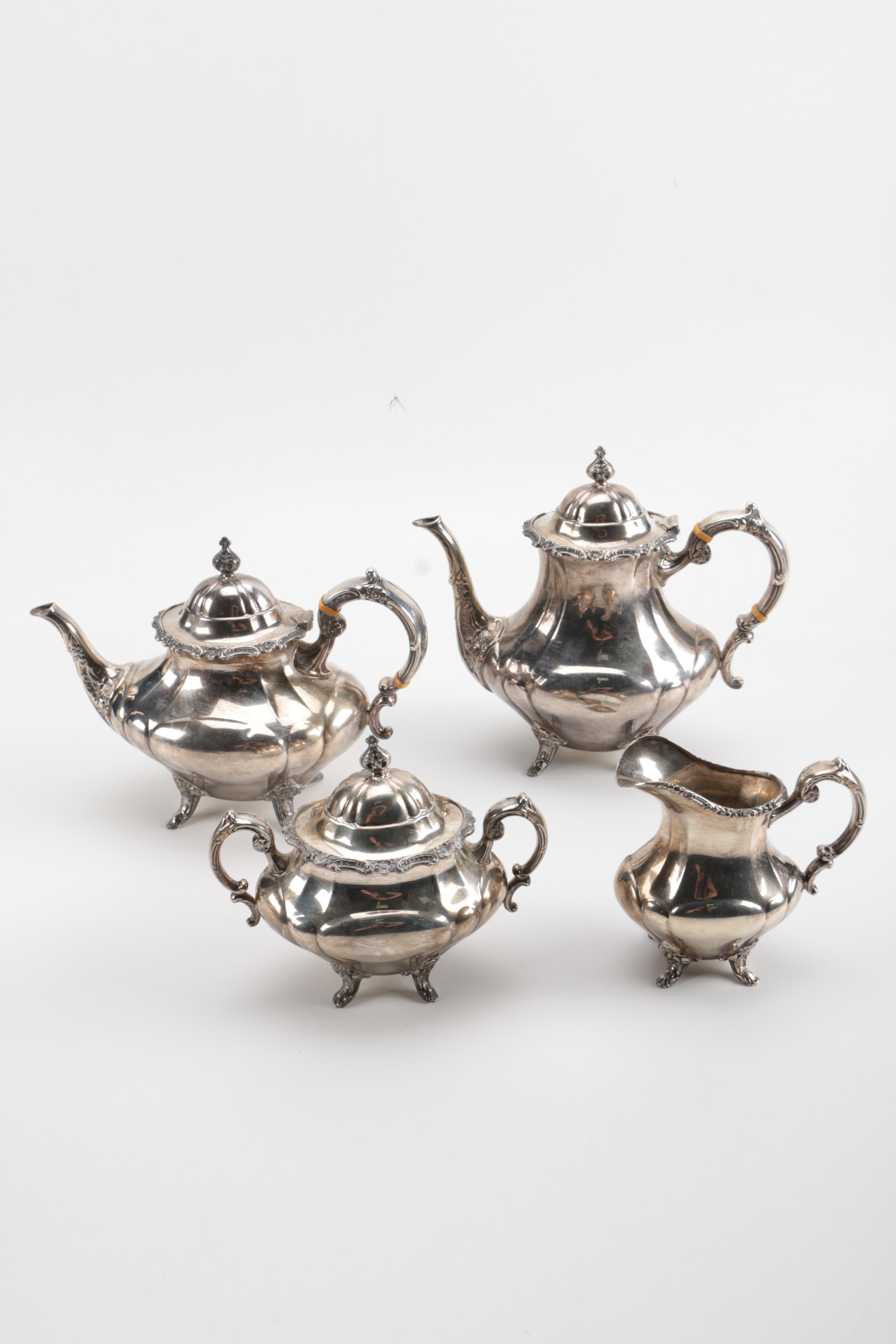 "Reed & Barton ""Georgian Rose"" Sterling Silver Tea and Coffee Service"
