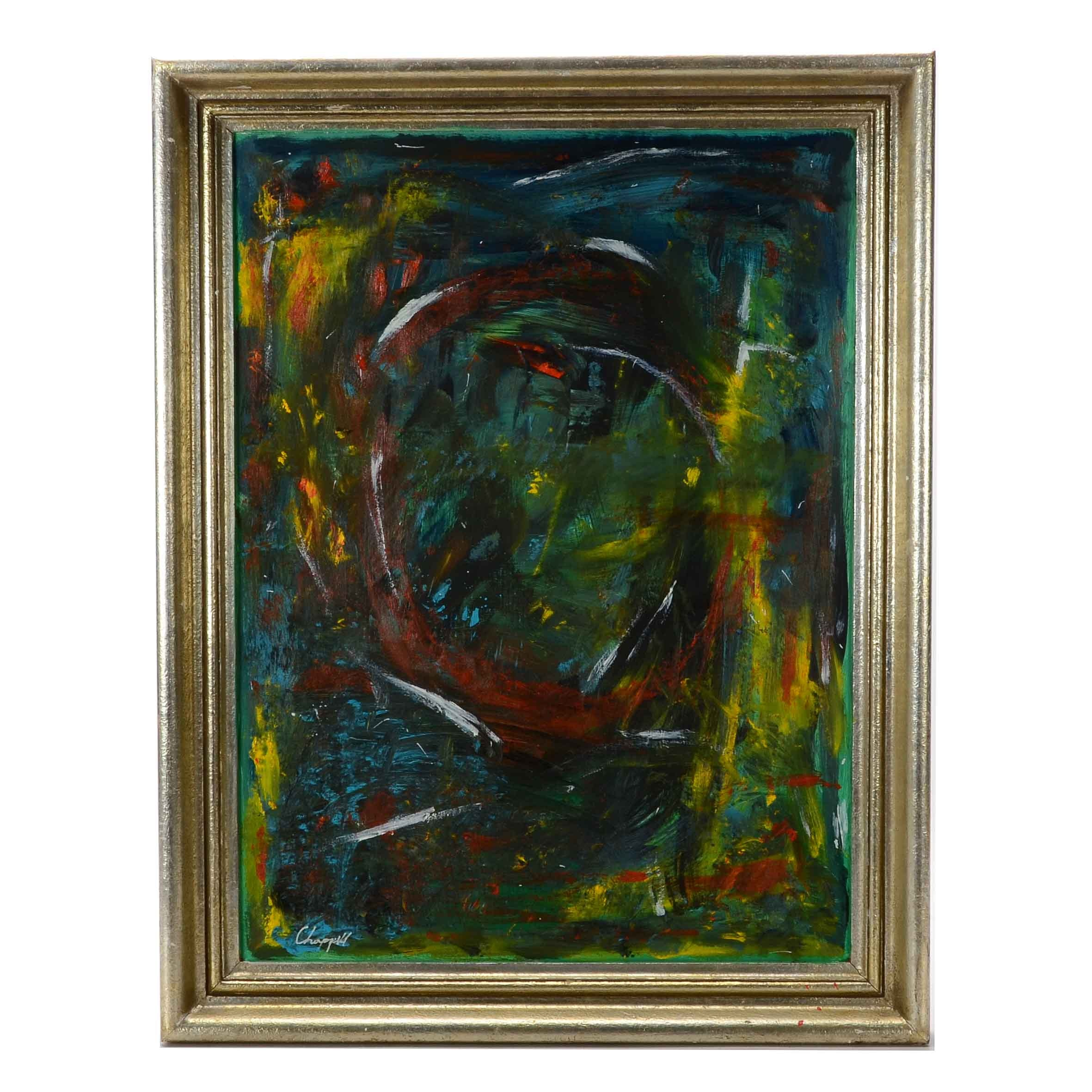 Freddie Chappell Original Contemporary Abstract Acrylic on Board