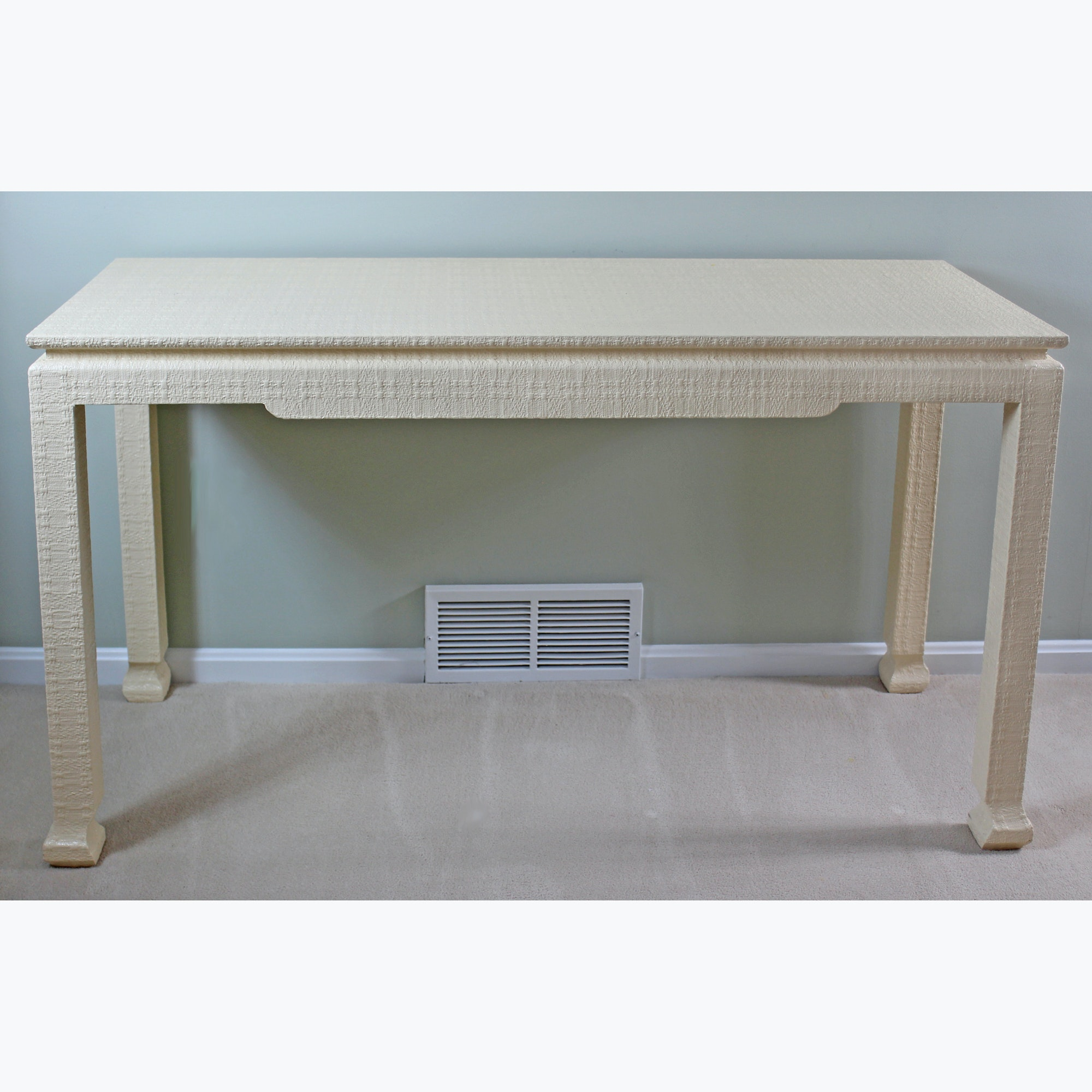 Contemporary Ivory Console Table